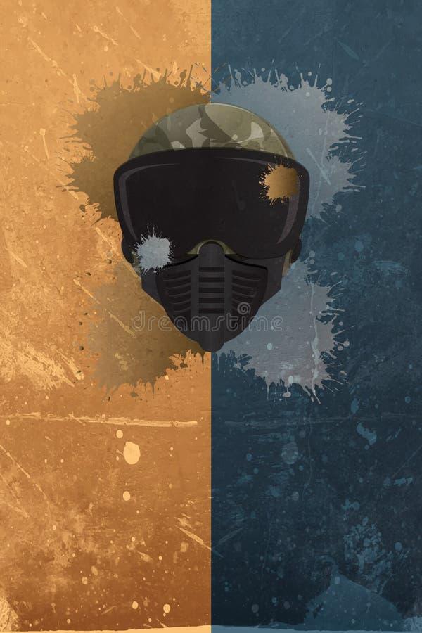 Предпосылка пейнтбола или airsoft бесплатная иллюстрация