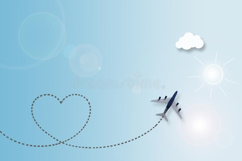 Предпосылка перемещения облака влюбленности иллюстрация штока