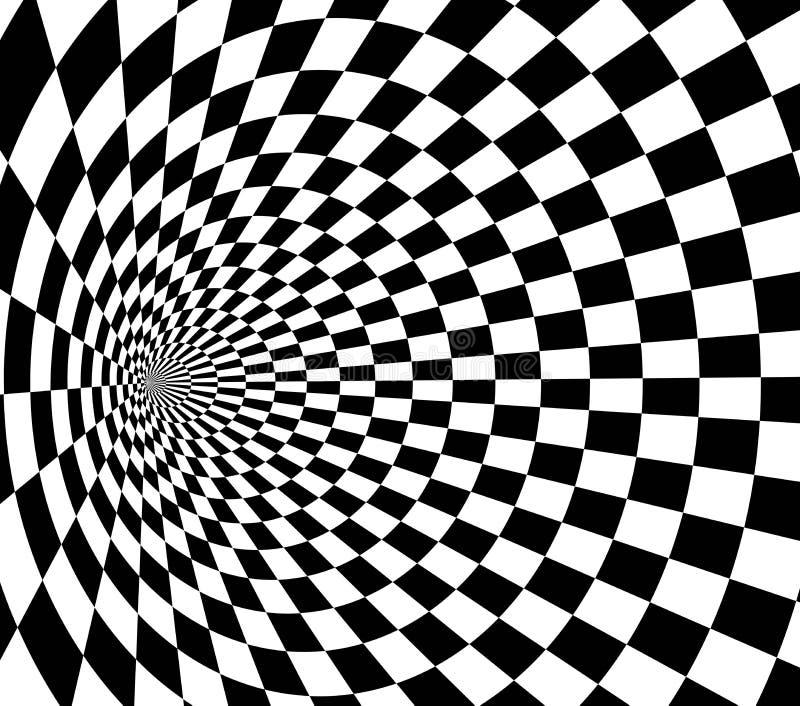 Предпосылка перспективы Vecor абстрактная Checkered текстура 3d иллюстрация вектора