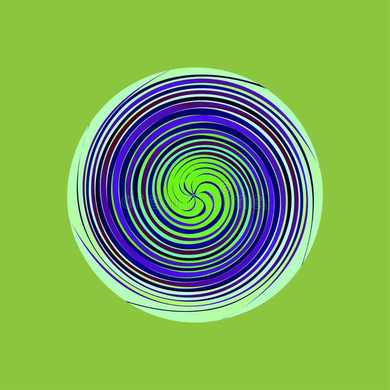 Предпосылка пестротканого вектора круга свирли пестротканая абстрактная иллюстрация штока