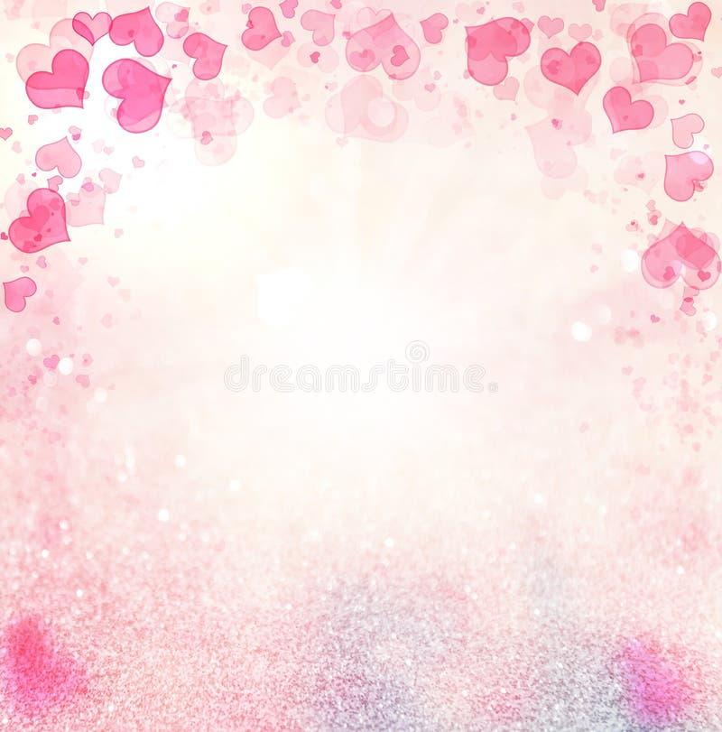 Предпосылка пинка конспекта сердец Валентайн иллюстрация вектора