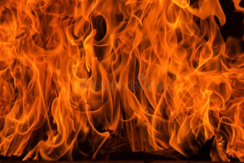 Предпосылка пламени огня пламени и текстурированный стоковая фотография