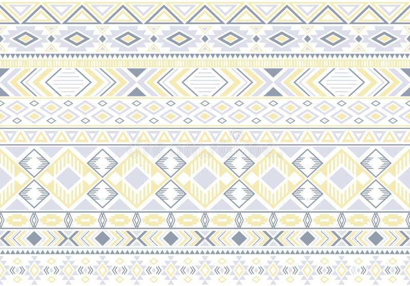 Предпосылка племенного этнического вектора мотивов геометрического безшовная иллюстрация вектора