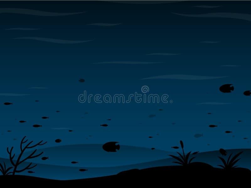 предпосылка подводная иллюстрация штока