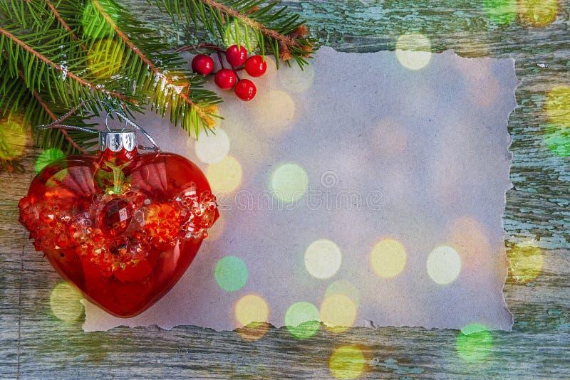 Предпосылка поздравительной открытки рождества с космосом экземпляра стоковые фото