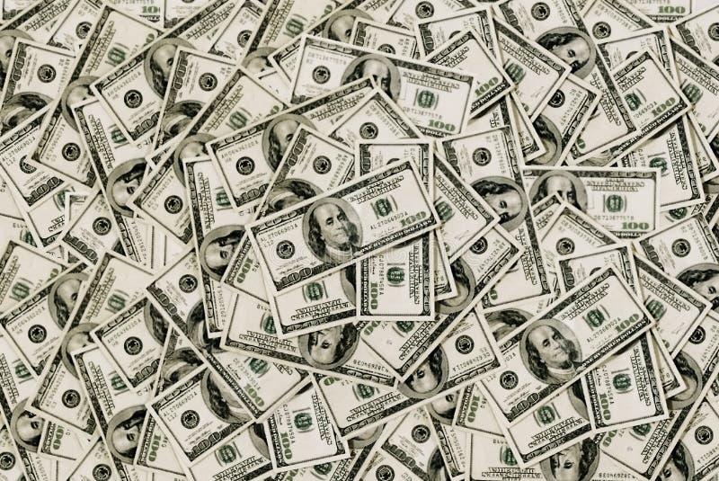 предпосылка представляет счет доллары 100 стоковые изображения rf