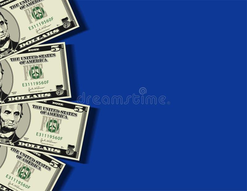 предпосылка представляет счет доллар бесплатная иллюстрация