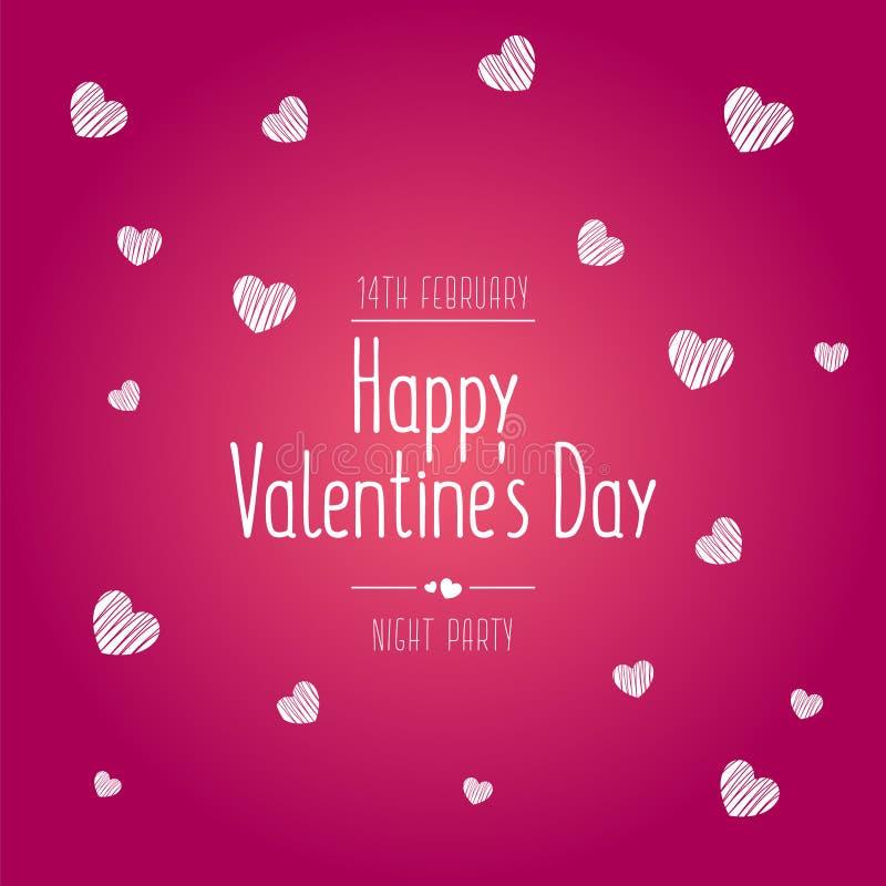Предпосылка продажи дня валентинок с картиной сердца воздушных шаров иллюстрация штока