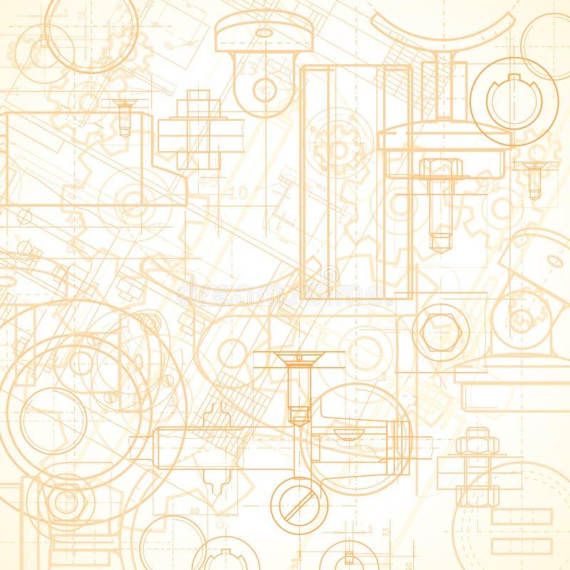 предпосылка промышленная иллюстрация вектора