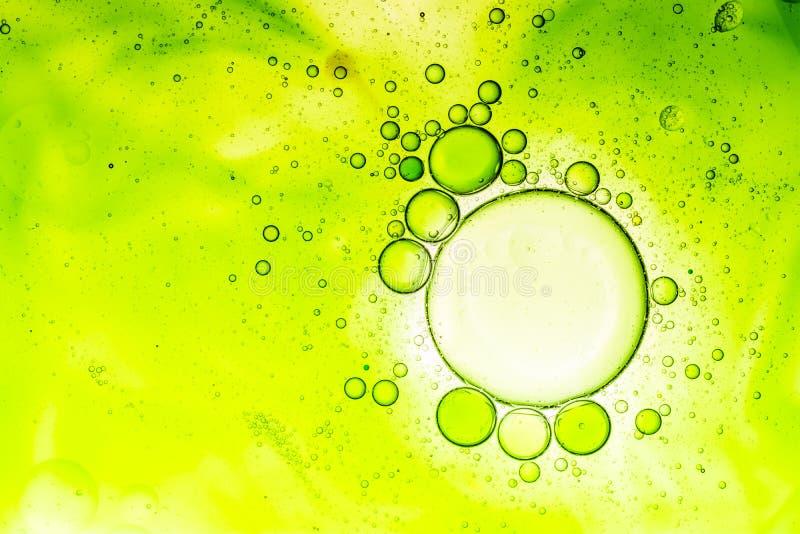 Предпосылка пузыря воды и масла стоковые изображения rf