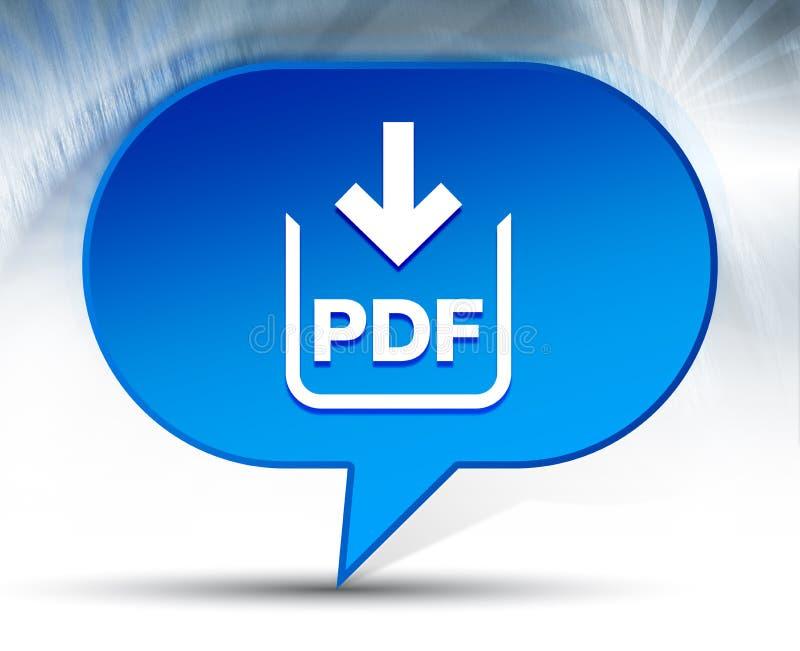 Предпосылка пузыря значка загрузки документа PDF голубая иллюстрация вектора