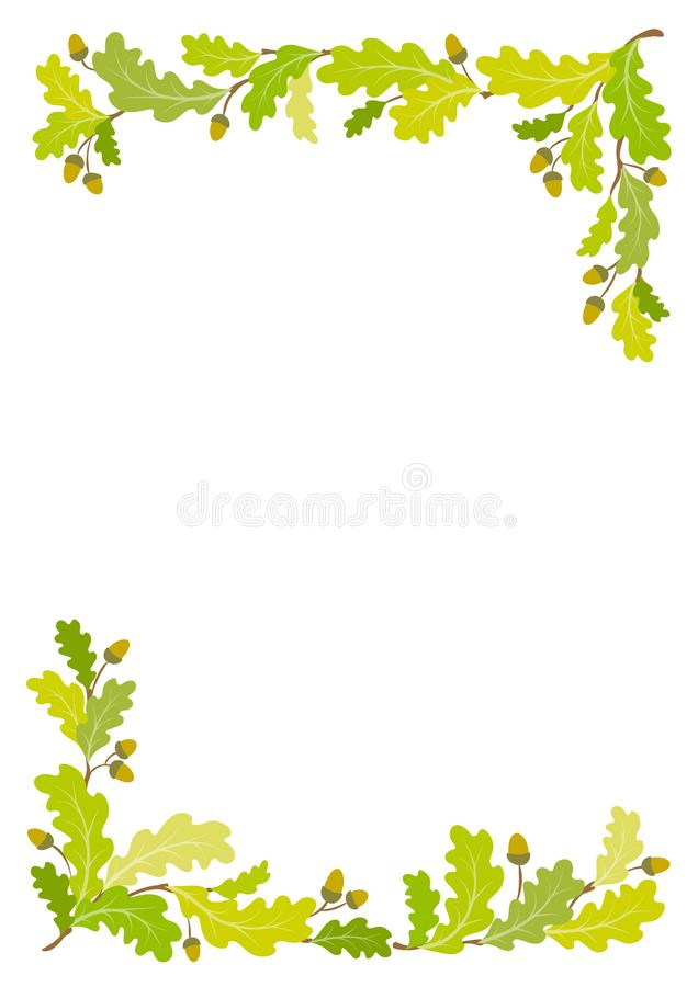 Предпосылка рамки дуба - иллюстрация вектора бесплатная иллюстрация