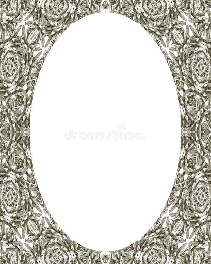 Предпосылка рамки круга с украшенными границами бесплатная иллюстрация
