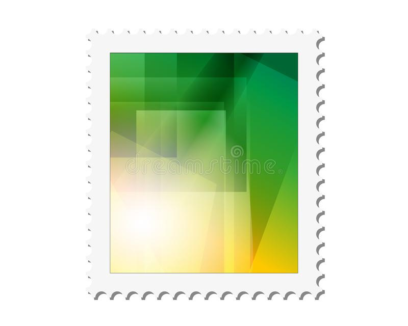 Предпосылка рамки печати вектора почтовая o иллюстрация штока