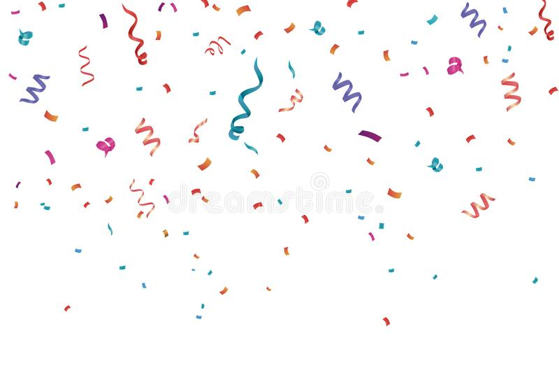 Предпосылка рамки торжества Confetti Горизонтальный, годовщина иллюстрация штока