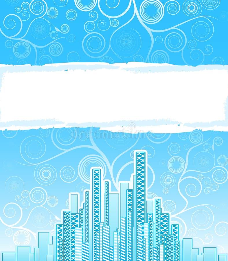 предпосылка рекламы закручивает в спираль урбанско иллюстрация штока