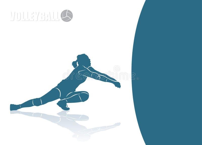 Предпосылка рему волейбола иллюстрация вектора