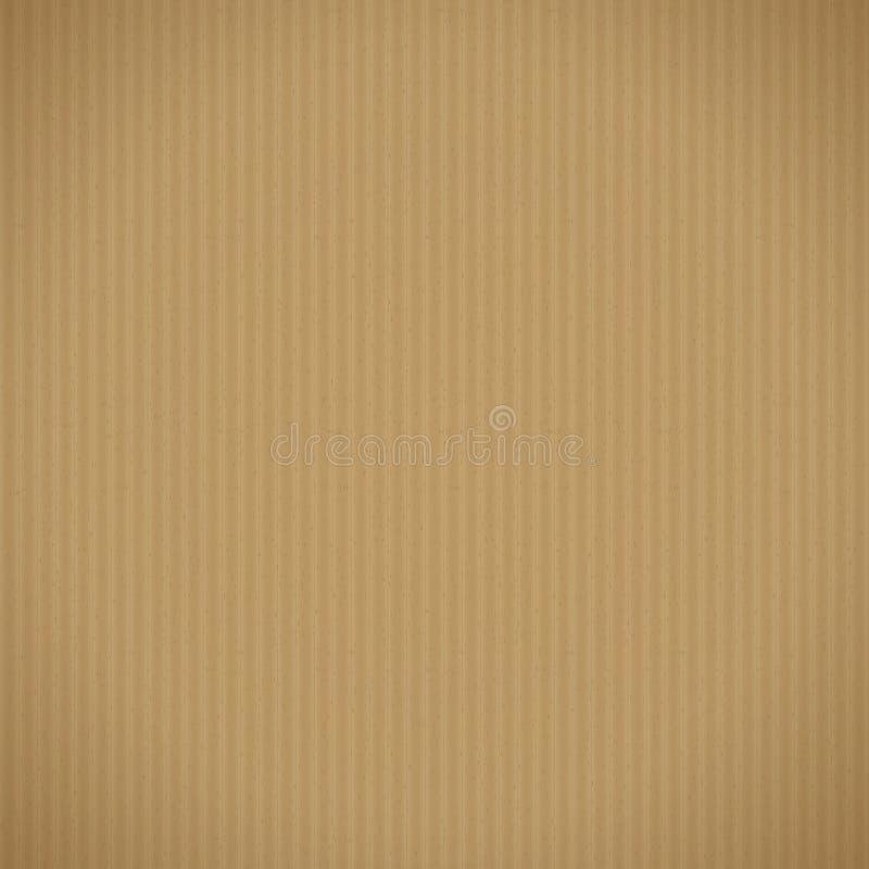 Предпосылка рифлёного картона иллюстрация вектора