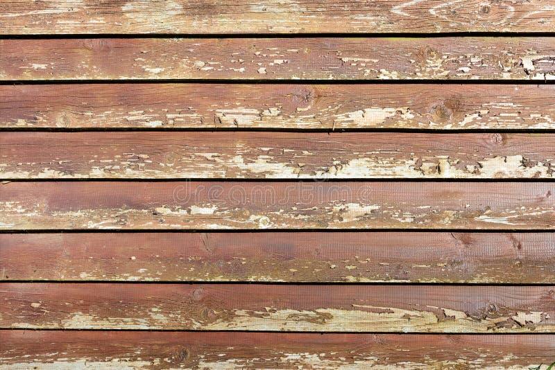 Предпосылка ровных деревянных доск Грубая текстура старой деревянной поверхности стоковое изображение