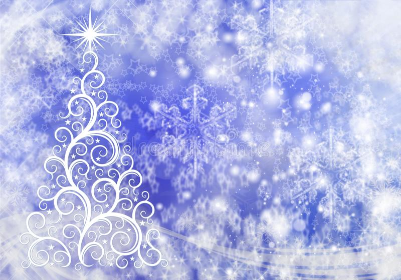 Предпосылка рождества абстрактная со светами и снежинками стоковые изображения