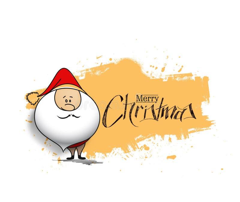 Предпосылка рождества - ба белизны изолята Санта Клауса шаржа милый иллюстрация вектора