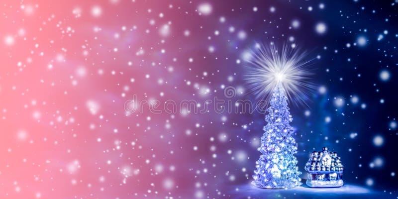 Предпосылка рождества и Нового Года в естественном цвете живущего коралла - цвета года 2019 иллюстрация вектора