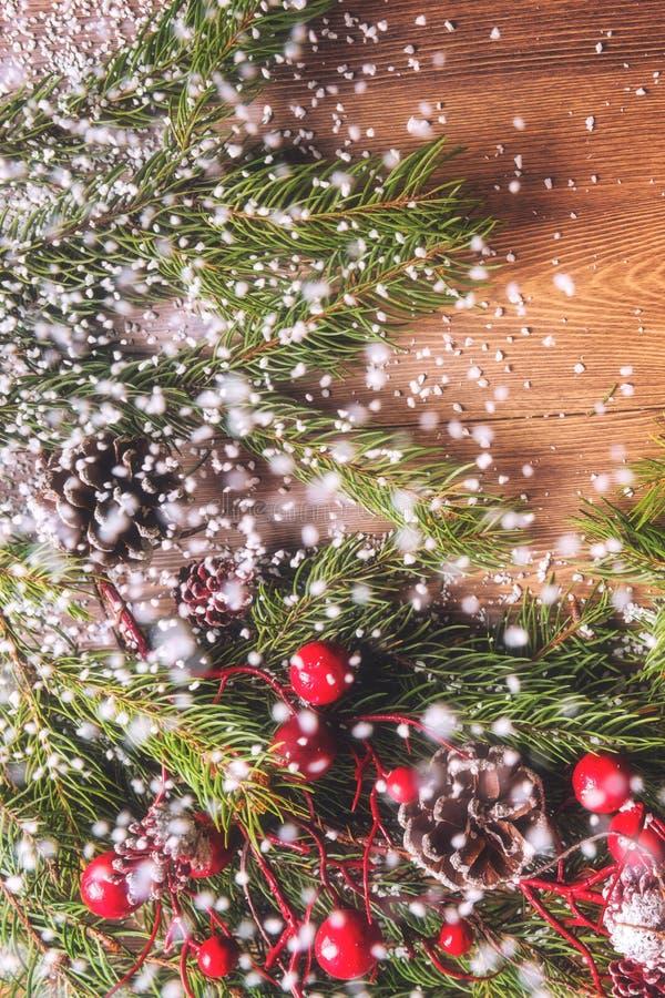 Предпосылка рождества и Нового Года, украшение праздника стоковое фото