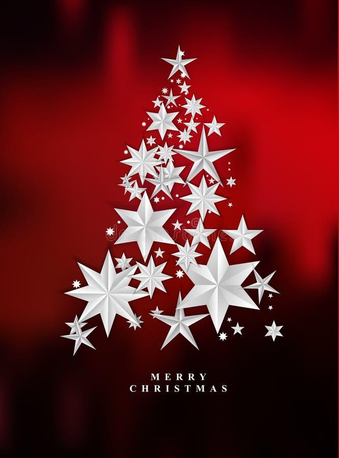 Предпосылка рождества красная звёздная иллюстрация штока