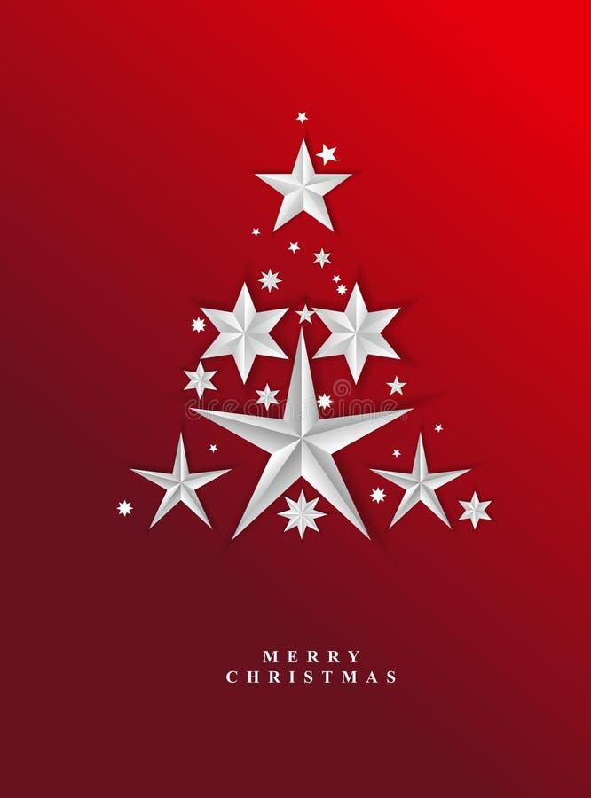 Предпосылка рождества красная звёздная иллюстрация вектора