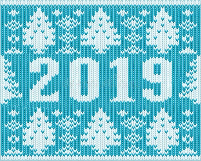 Предпосылка рождества, новый 2019 год связала текстуру иллюстрация штока