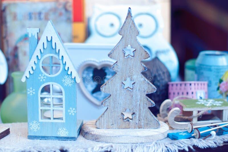 Предпосылка рождества - орнаменты рождественской елки стоковые фото