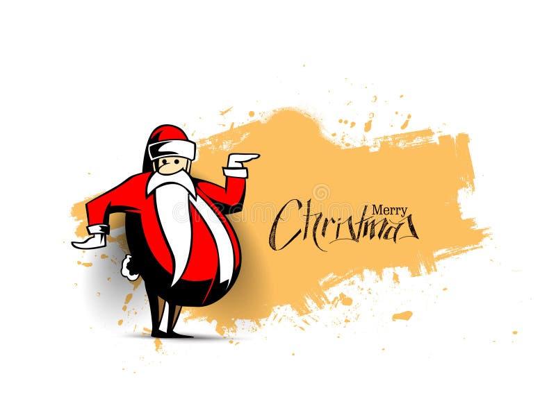 Предпосылка рождества - смешная предпосылка белизны изолята Санта Клауса иллюстрация штока