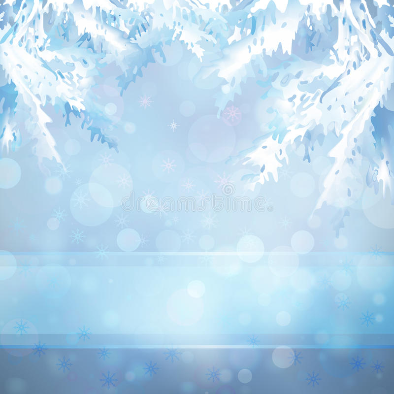 Предпосылка рождества с ветвями рождественской елки бесплатная иллюстрация