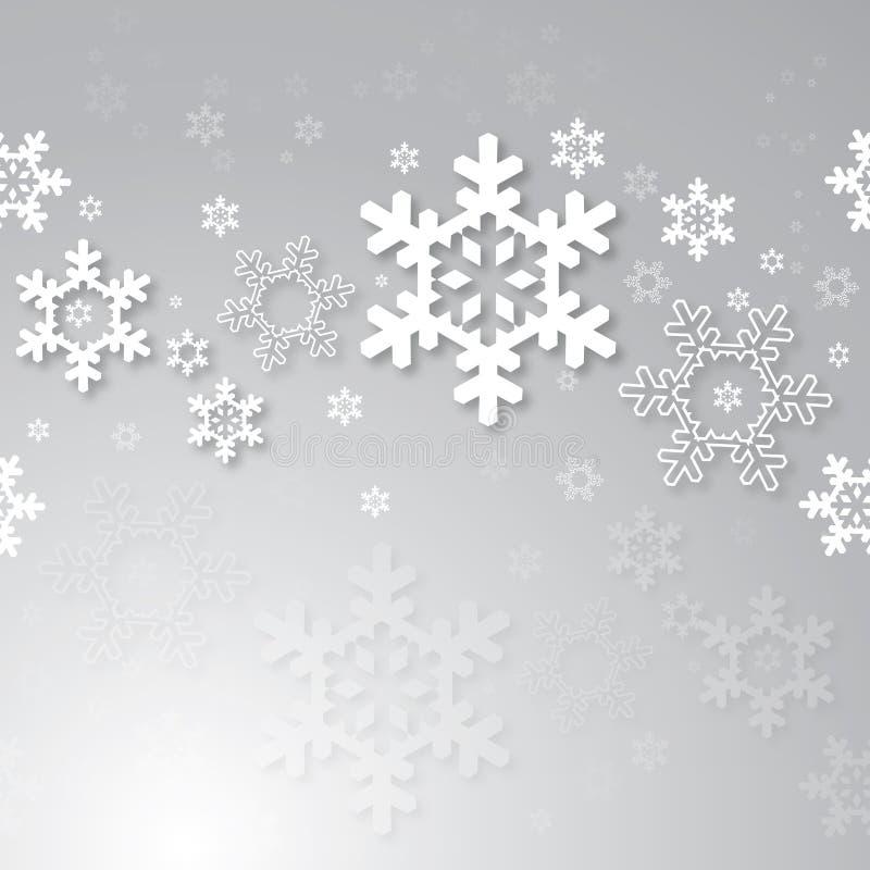 Предпосылка рождества с снежинками 3d иллюстрация вектора
