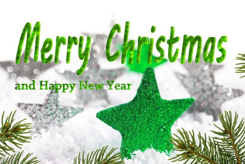 Предпосылка рождества с текстом с Рождеством Христовым стоковые изображения rf