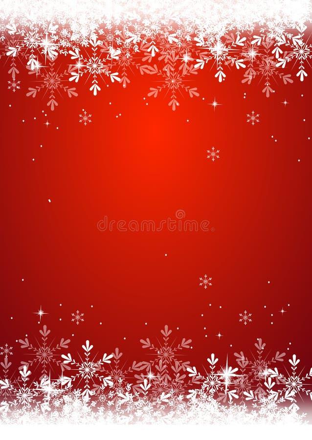 Предпосылка рождества украшенная с снежинкой иллюстрация штока