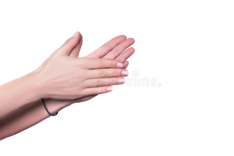 Предпосылка руки изолированная затиранием белая стоковая фотография rf