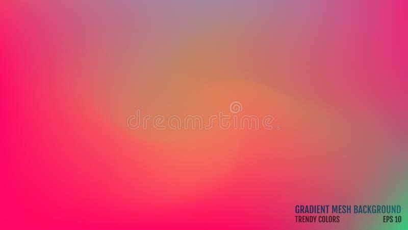 предпосылка самомоднейшая Цвета переводят концепцию Сетка градиента абстрактная крышка Ультрамодная покрашенная поверхность шикар бесплатная иллюстрация