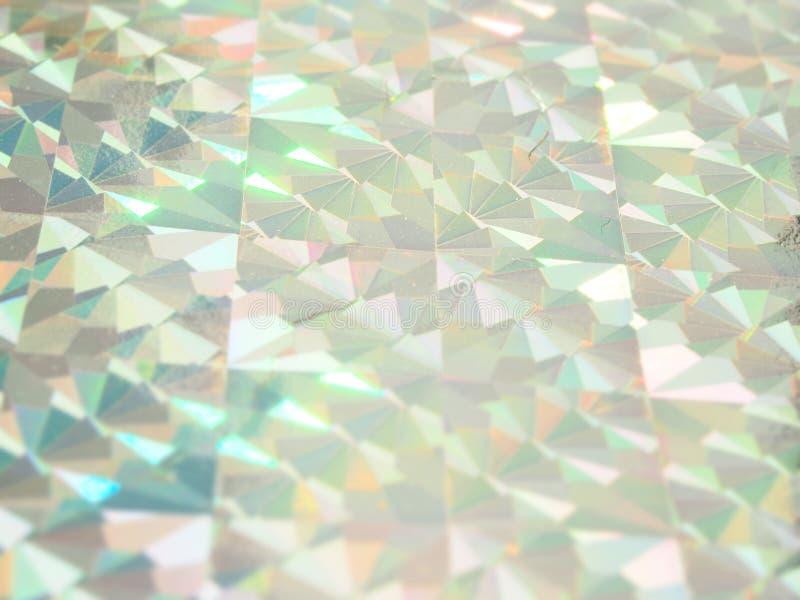 Предпосылка светов сини и пинка голографического bokeh зеленая праздничная стоковая фотография rf
