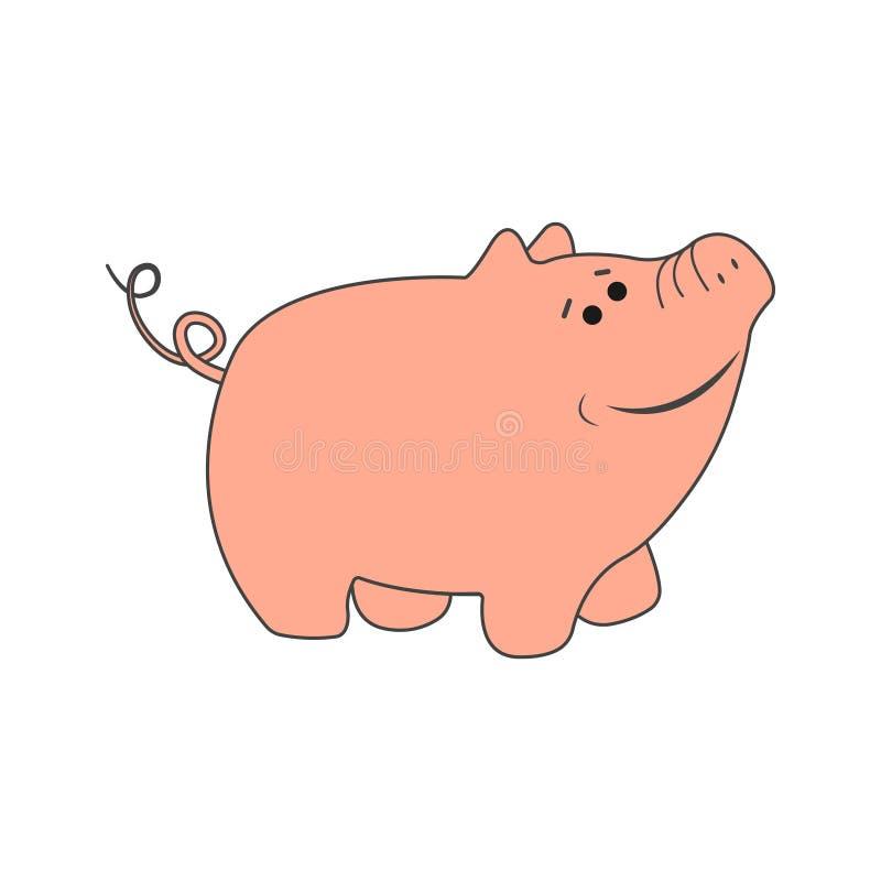 предпосылка свиньи также вектор иллюстрации притяжки corel стоковая фотография