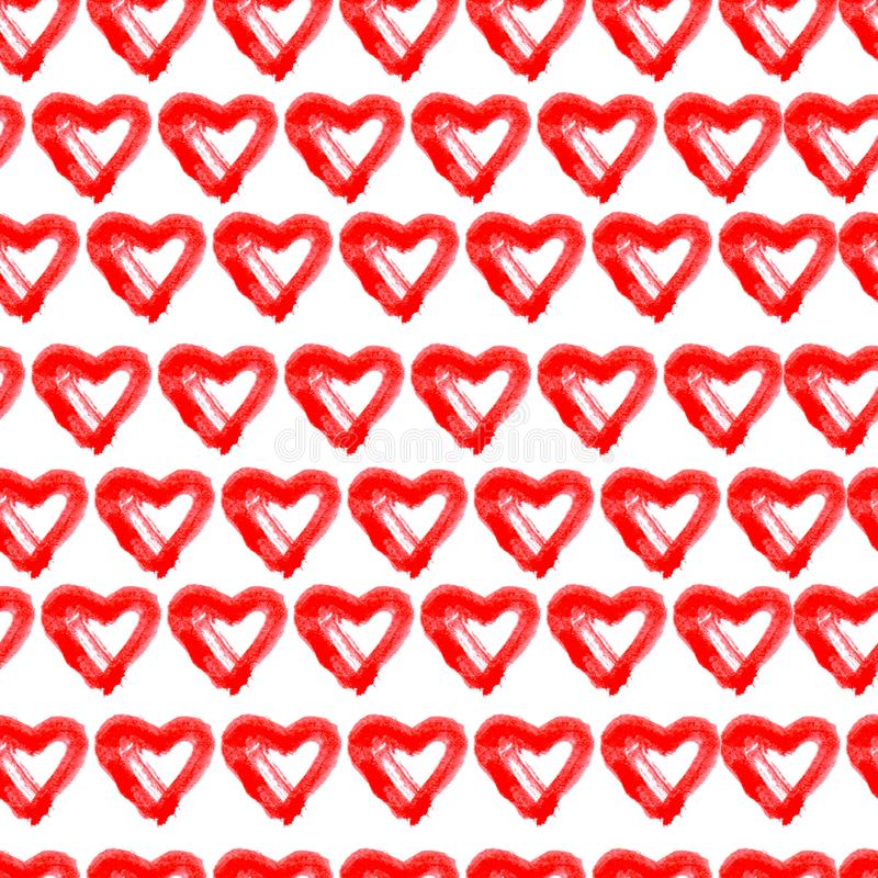 Предпосылка сердец руки вычерченная безшовная красная бесплатная иллюстрация