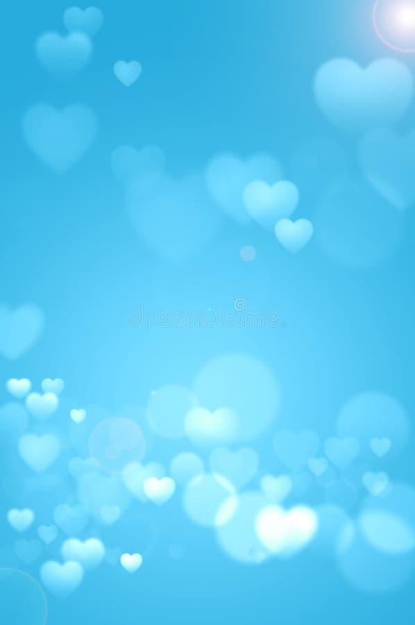 Предпосылка сердец сини младенца стоковая фотография