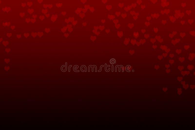 Предпосылка сердца конспекта красная падая стоковое изображение