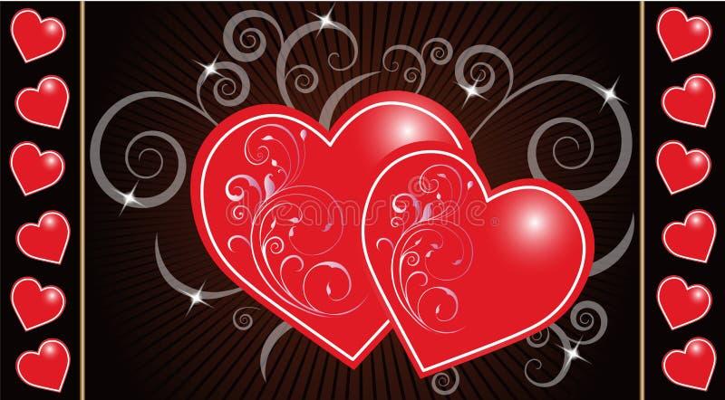 Предпосылка сердца иллюстрация вектора