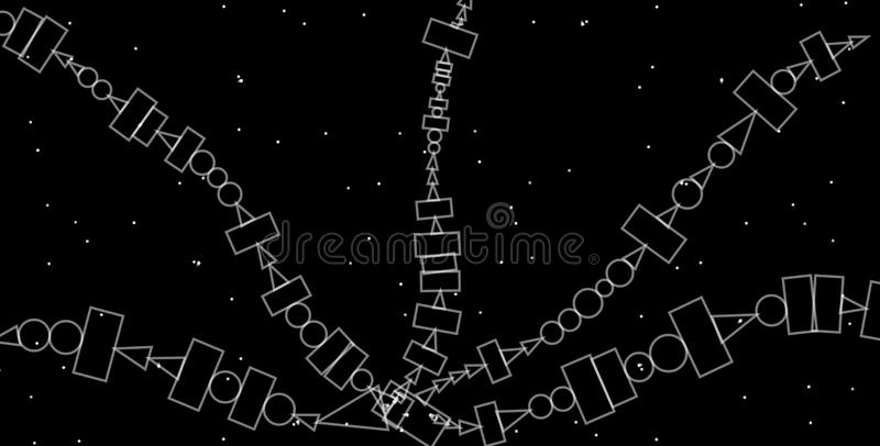 Предпосылка серой шкалы конспекта геометрическая Дизайн геометрических форм творческий с черной предпосылкой бесплатная иллюстрация