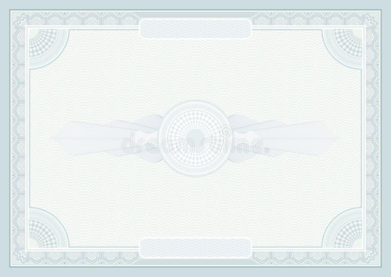 Предпосылка сертификата бесплатная иллюстрация