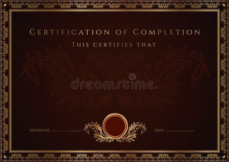 Предпосылка сертификата иллюстрация вектора