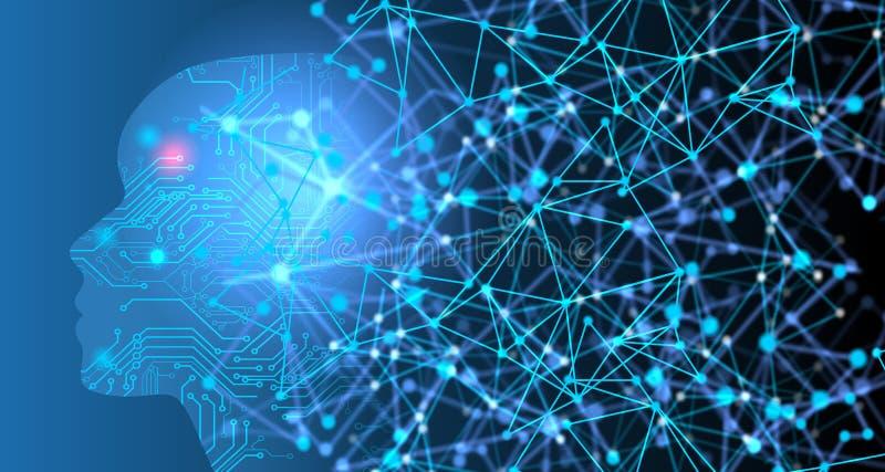 Предпосылка сети технологии Виртуальная концепция предпосылка связи технологии сети мира стоковое фото