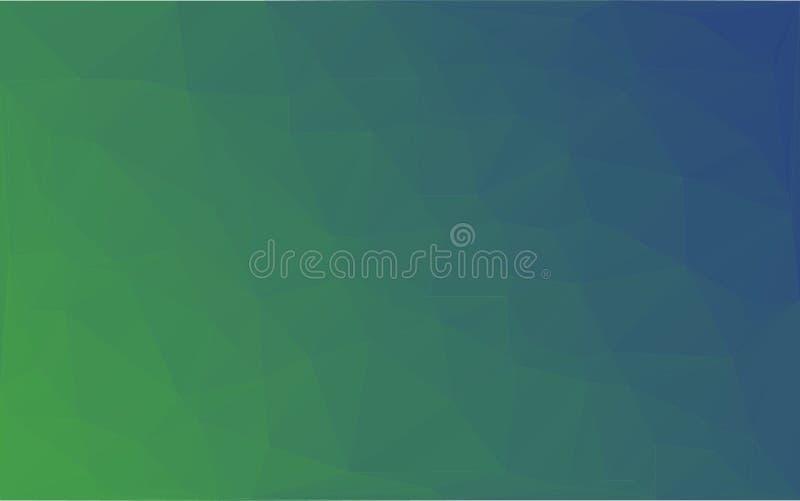 Предпосылка сини зеленого цвета вектора мозаики полигона абстрактная иллюстрация штока