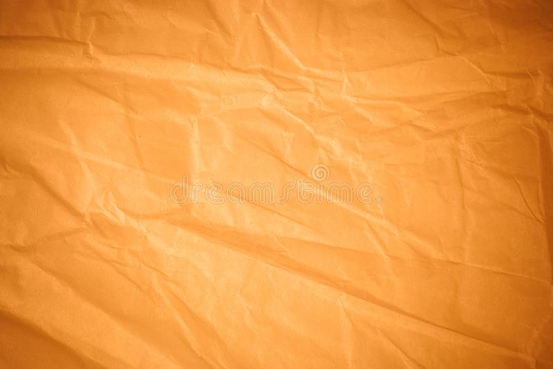 Предпосылка скомканной бумаги Брауна стоковое фото rf